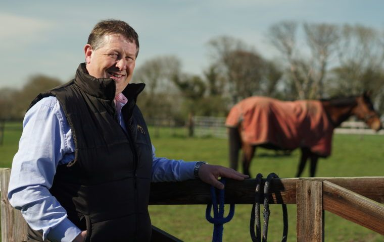 Alan Delaney with horse in background