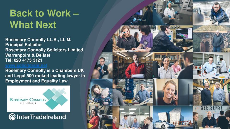 Return to work | Health & Safety Webinar | Northern Ireland