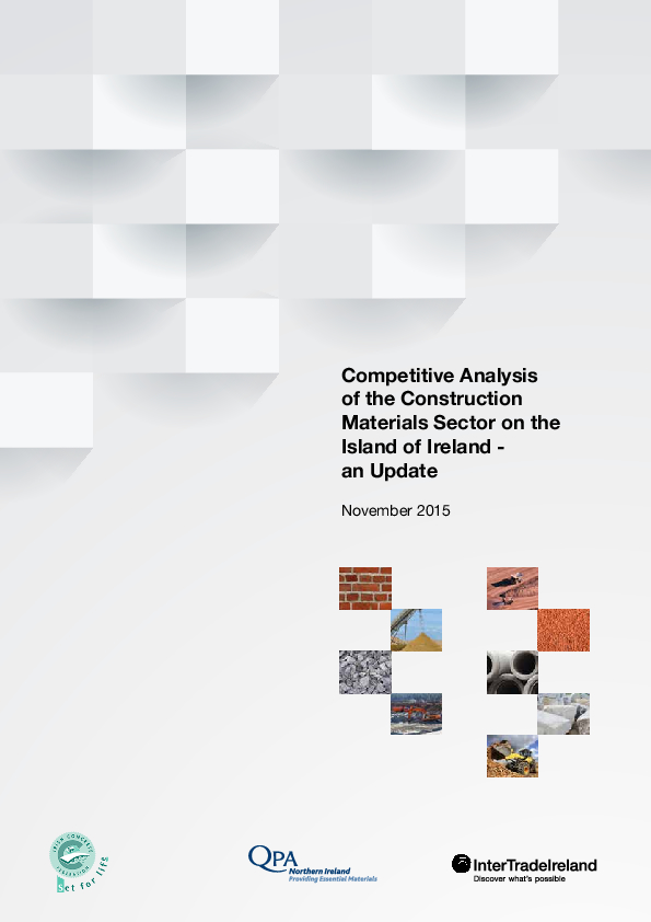 Competitive Analysis of the Construction Materials Sector on the Island of Ireland 2015
