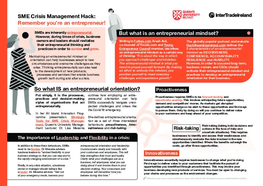 Strategic tools for SME crisis management