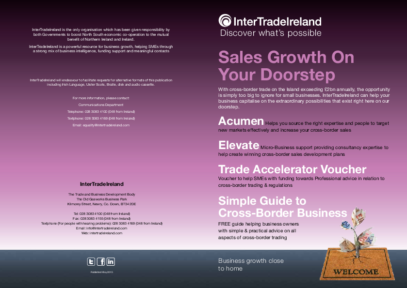 Sales Growth on your Doorstep 1