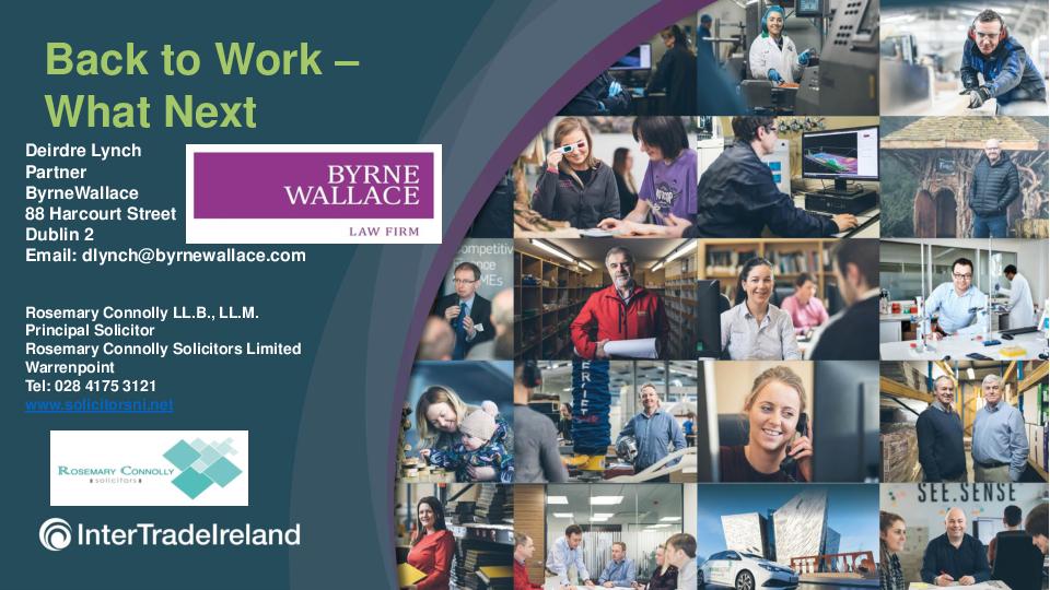 Return to work   Health & Safety Webinar   Ireland