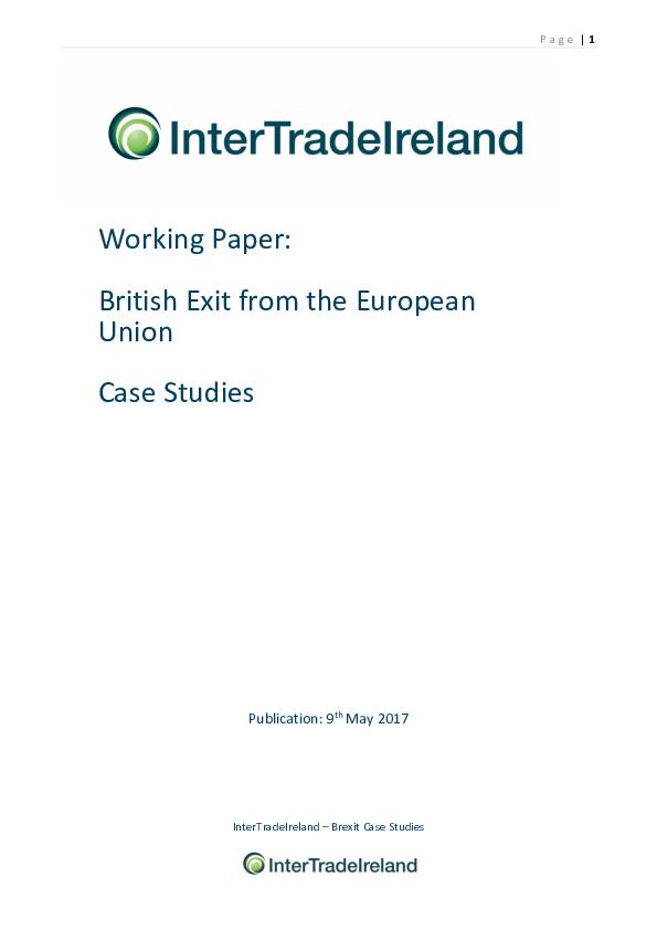 Brexit Case Studies May 2017