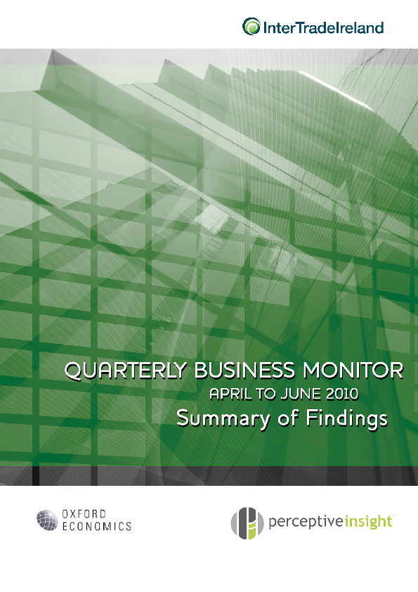 Business Monitor Survey 2010 Q2