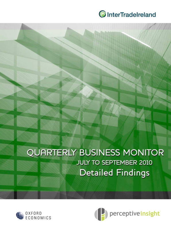 Business Monitor Survey 2010 Q3