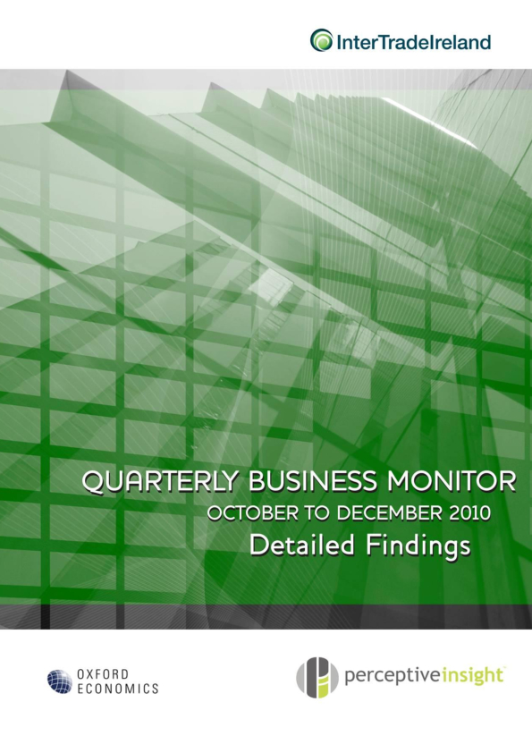 Business Monitor Survey 2010 Q4 Full Report