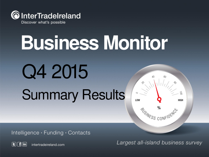 Business Monitor Survey 2015 Q4