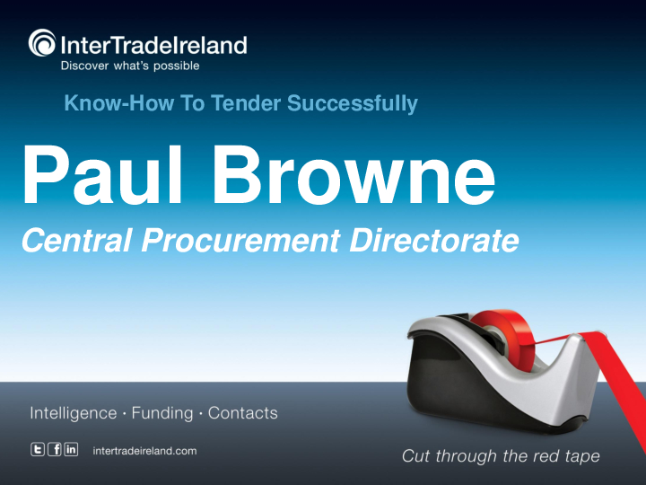 CPD Presentation Paul Browne