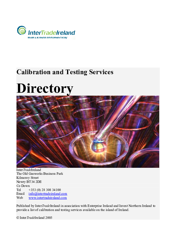 Calibration and Testing Services Directory