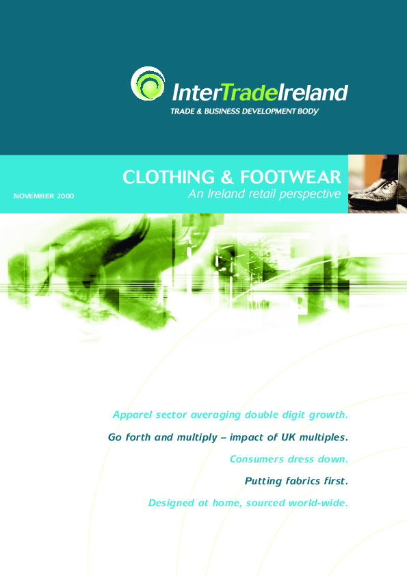 Clothing and Footwear An Ireland Retail Perspective 2000