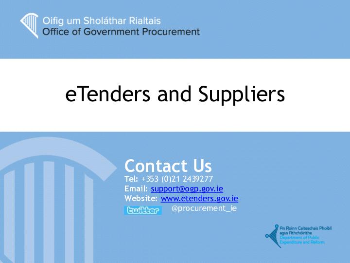 E Tenders ROI Presentation