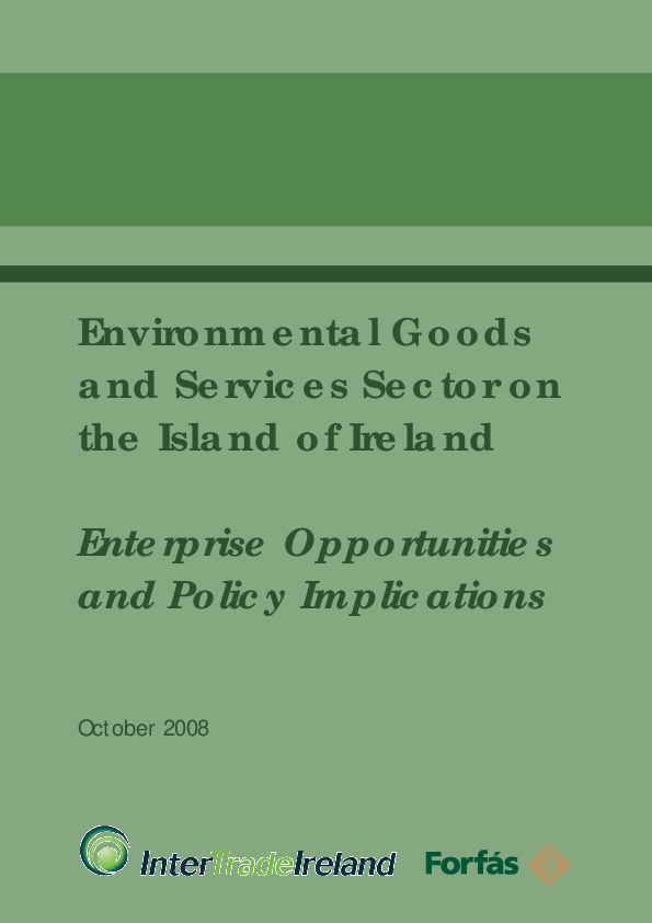 Environmental Goods and Services Sector on the Island of Ireland Final Report 2008