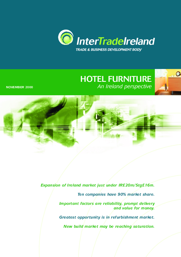 Hotel Furniture An Ireland Perspective