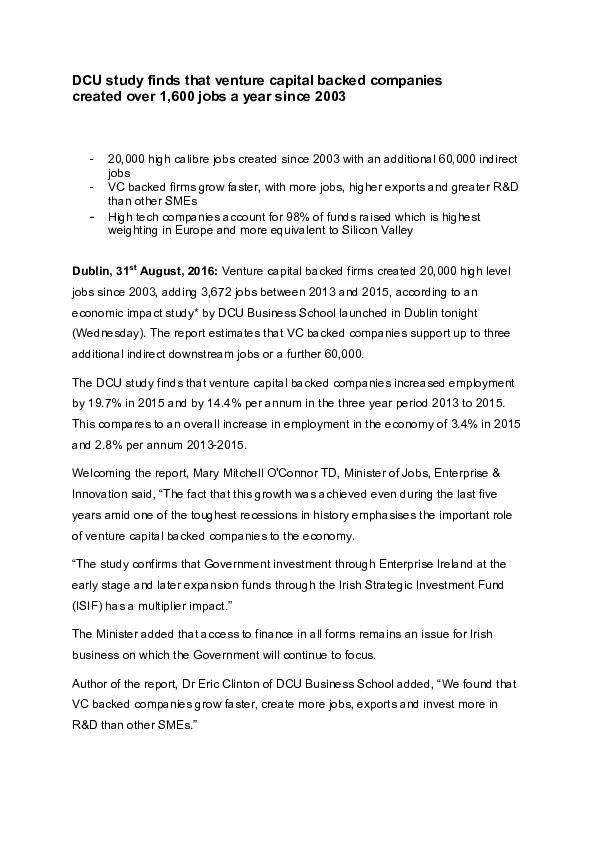 IVCA Economic Impact Study 2016