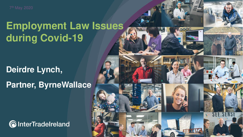 Employment Law Issues during Covid-19 | ByrneWallace Solicitors