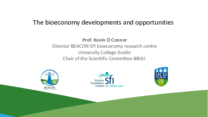 Kevin O Connor Bioeconomy BBI info day UL May 22 2019 1