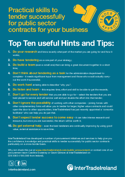 Tendering Top Ten Hints